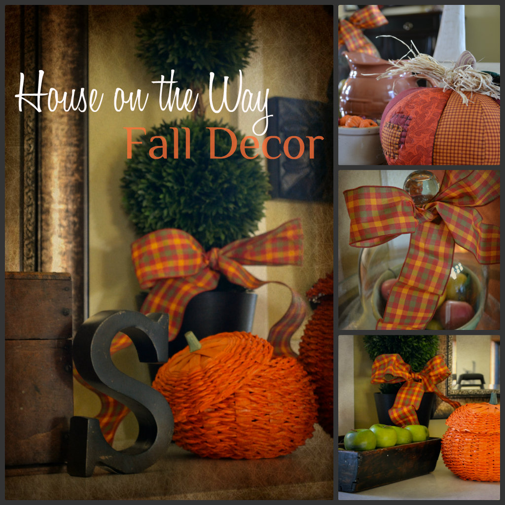 Fall decor at my house house on the way - Fall decorations for home ...